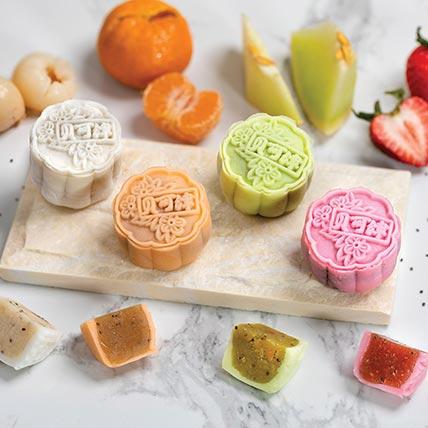 Set Of 8 Pcs Fruity Mooncakes