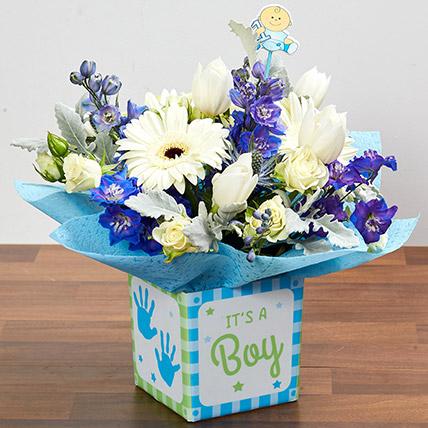 Its A Boy Flower Vase