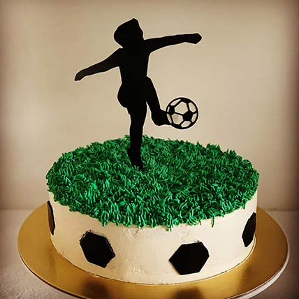 Football Themed Vanilla Cake 9 inches