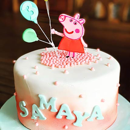 George Peppa Pig Vanilla Cake 9 inches