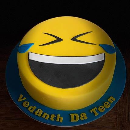 Laughing Emoji Red Velvet Cake 9 inches