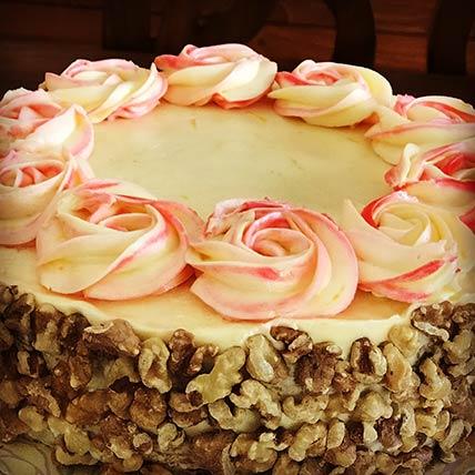 Nutty Cream Cheese Vanilla Cake 8 inches