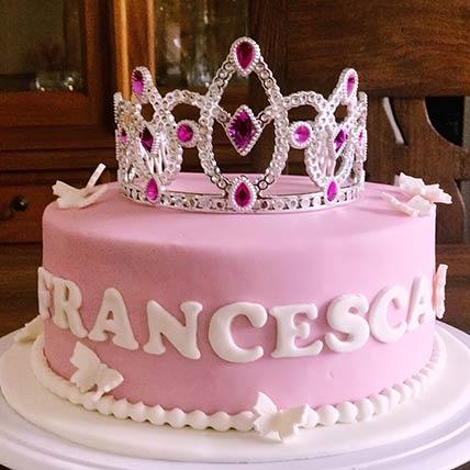 Princesss Tiara Vanilla Cake 9 inches