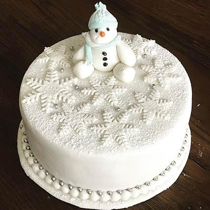Snowman Vanilla Cake 8 inches