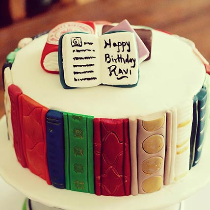 Book Lovers Red Velvet Cake 8 inches Eggless