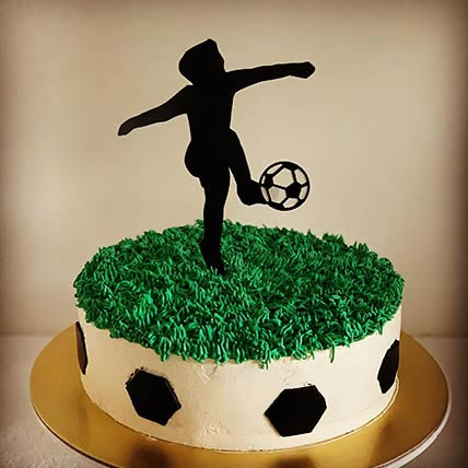 Football Themed Chocolate Cake 9 inches Eggless