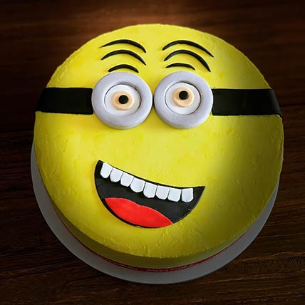 Minion Themed Chocolate Cake 6 inches Eggless