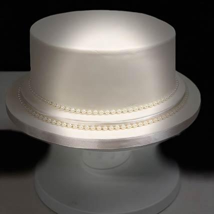 Pearly Elegant Vanilla Cake 8 inches Eggless