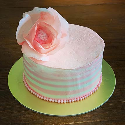 Pretty Pink Vanilla Cake 8 inches Eggless