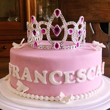 Princesss Tiara Chocolate Cake 8 inches Eggless
