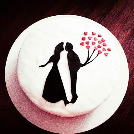 Romantic Couple Red Velvet Cake 8 inches Eggless