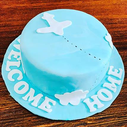 Welcome Home Vanilla Cake 8 inches Eggless
