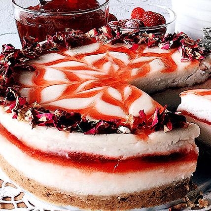 6in Round Strawberry Cheesecake
