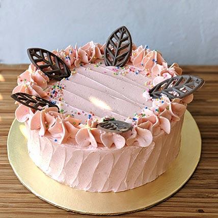 Strawberry Vanilla Vegan Cake- 8 Inches