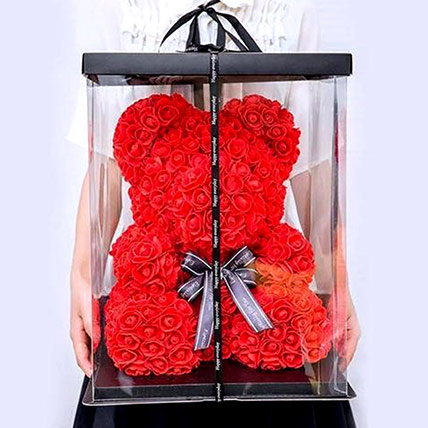 Artificial Red Roses Teddy