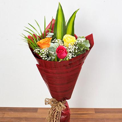 Multicolored Roses Bouquet