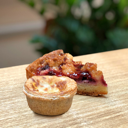 Raspberry Crumble  Butter Chicken Pie Combo