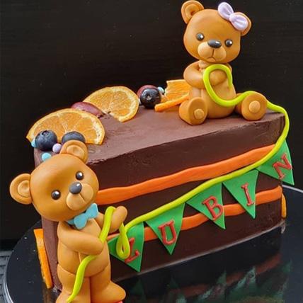 Teddy Bear Red Velvet Cake