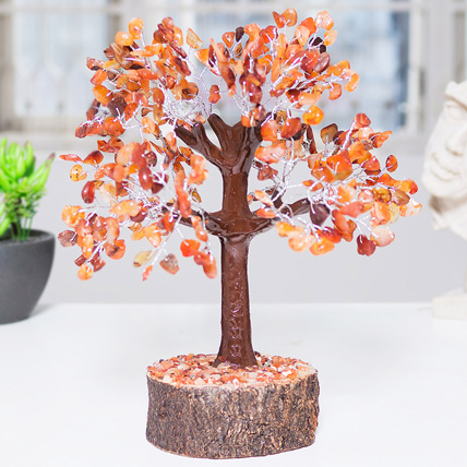 Handcrafted Agate Stone Wish Tree