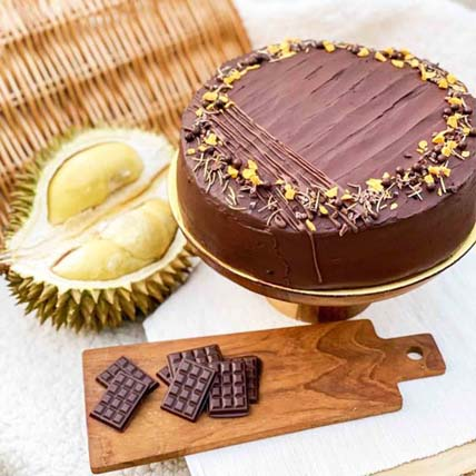 Smoked Belgian Cacao Durian Cake 5 inches