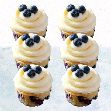 Blueberry Yoghurt Cupcakes- 12 Pcs