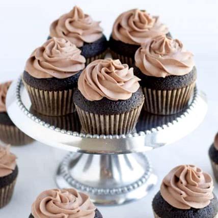 Double Chocolate Banana Cupcakes- 6 Pcs