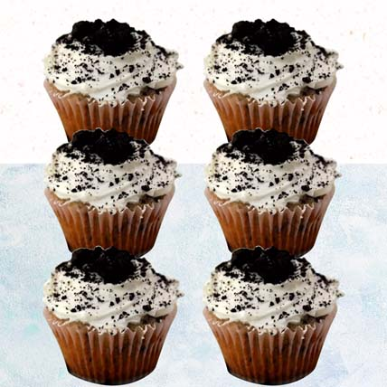 Oreo Cheese Cupcakes- 6 Pcs