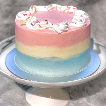 Delightful Vanilla Ombre Cake- 7 inches