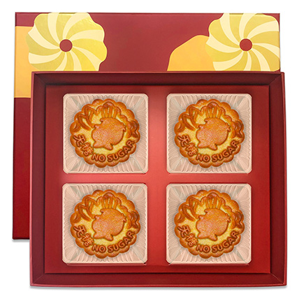 Pure Bake Skin Mooncakes- 4 Pcs