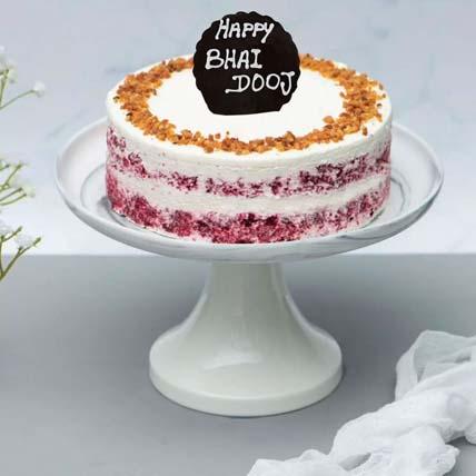 Red Velvet Peanut Butter Cake for Bhai Dooj