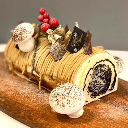 Xmas Special Mont Blanc Chestnut Rum Log Cake
