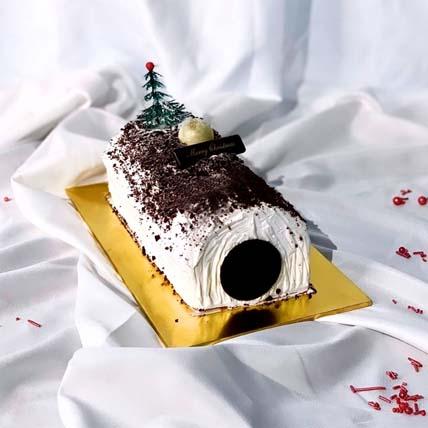 Black Velvet Log Cake