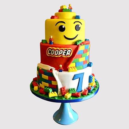 3 Tier Lego Vanilla Cake