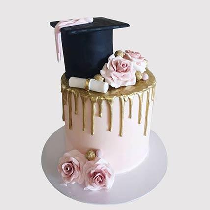 Congratulate On Graduation Vanilla Cake