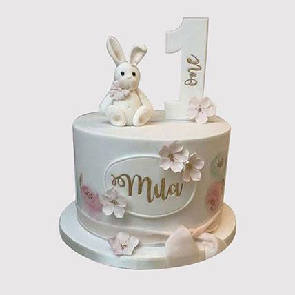 Cute Bunny Vanilla Cake