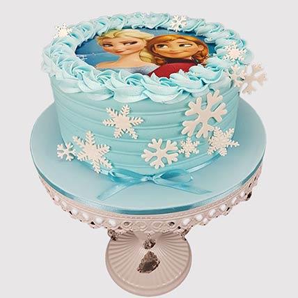 Delicious Frozen Theme Black Forest Cake