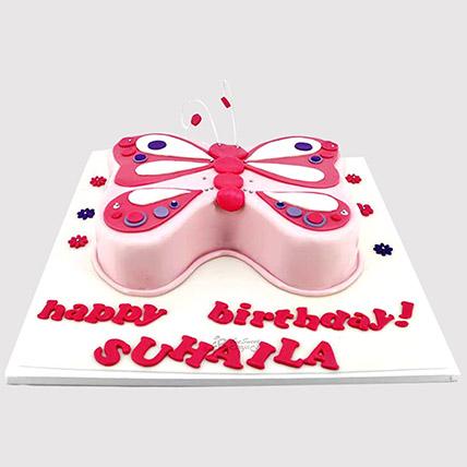 Designer Butterfly Vanilla Cake