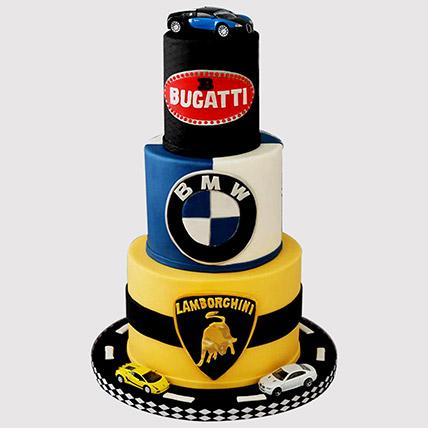 Designer Car Themed Butterscotch Cake