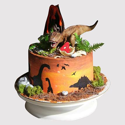 Dinosaur Land Truffle Cake