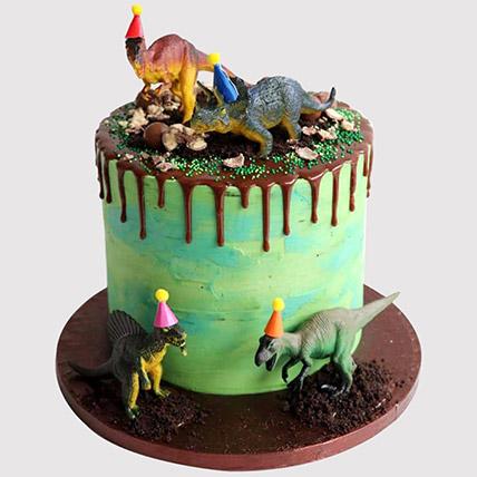 Dinosaur Party Vanilla Cake