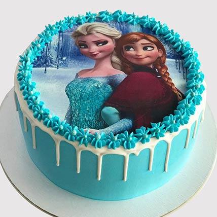 Elsa and Anna Vanilla Cake