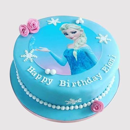 Elsa From Frozen Vanilla Cake