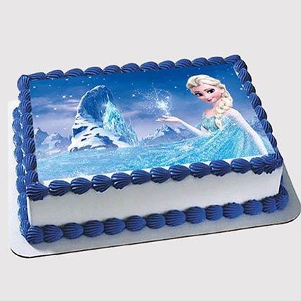 Elsa Truffle Photo Cake
