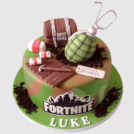 Fortnite Battle Butterscotch Cake