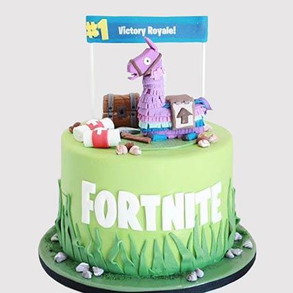 Fortnite Unicorn Floaties Vanilla Cake