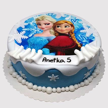 Frozen Elsa and Anna Black Forest Cake