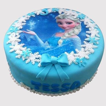 Frozen Elsa Black Forest Cake