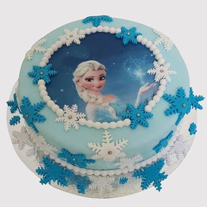 Frozen Snowflakes Vanilla Cake