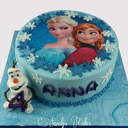 Frozen Theme Fondant Vanilla Cake