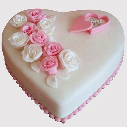 Heart Shaped Engagemenet Truffle Cake